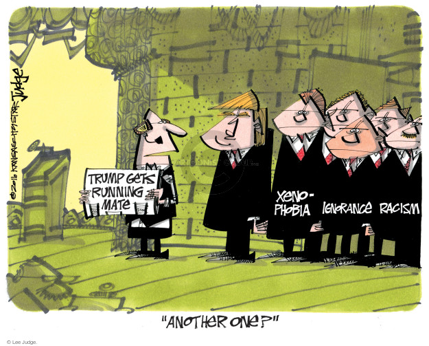 Lee Judge  Lee Judge's Editorial Cartoons 2016-07-22 racism