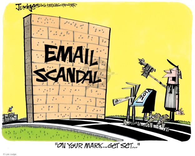 Cartoonist Lee Judge  Lee Judge's Editorial Cartoons 2016-07-26 barrier