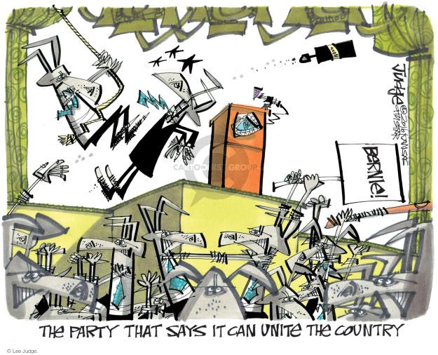 Cartoonist Lee Judge  Lee Judge's Editorial Cartoons 2016-07-27 party