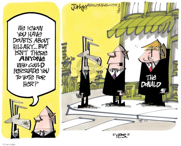 Lee Judge  Lee Judge's Editorial Cartoons 2016-07-31 voter