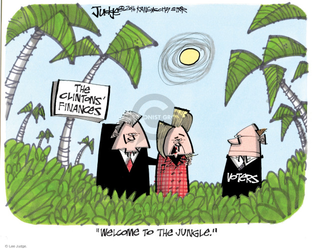 The Clintons Finances. Voters. Welcome to the jungle.
