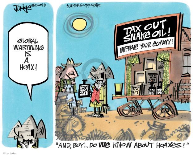 Cartoonist Lee Judge  Lee Judge's Editorial Cartoons 2016-08-16 tax