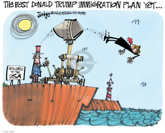 Cartoonist Lee Judge  Lee Judge's Editorial Cartoons 2016-08-24 emigration
