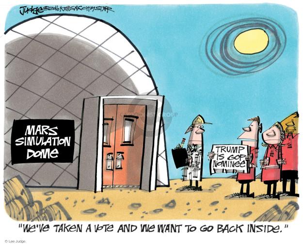 Lee Judge  Lee Judge's Editorial Cartoons 2016-08-30 NASA