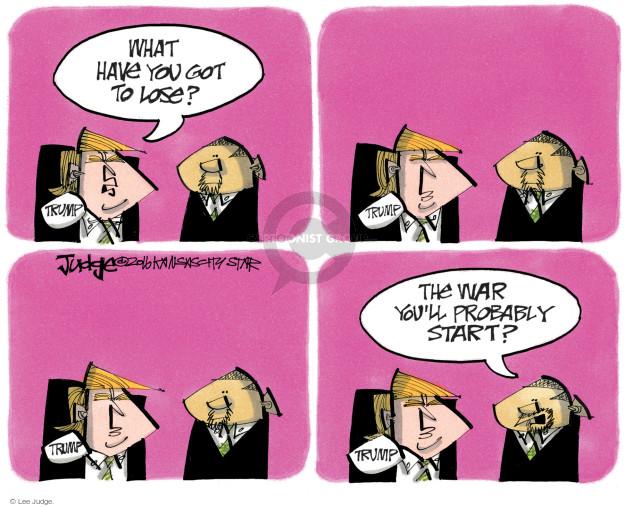 Lee Judge  Lee Judge's Editorial Cartoons 2016-09-02 presidential candidate