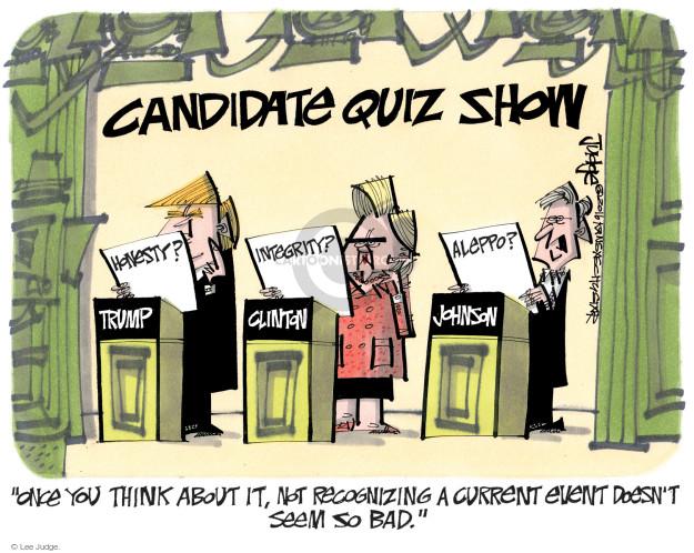 Lee Judge  Lee Judge's Editorial Cartoons 2016-09-13 presidential candidate