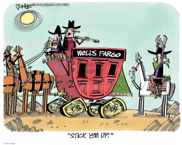 Lee Judge  Lee Judge's Editorial Cartoons 2016-09-25 bank