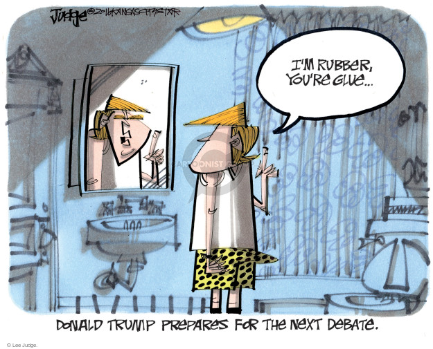 Lee Judge  Lee Judge's Editorial Cartoons 2016-10-05 presidential candidate