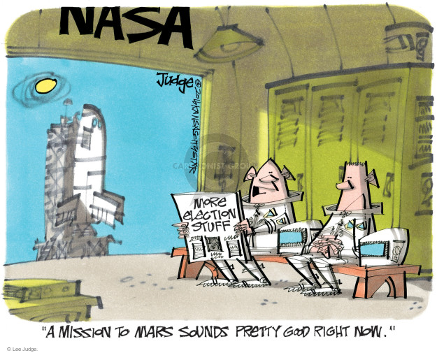Lee Judge  Lee Judge's Editorial Cartoons 2016-10-16 astronaut
