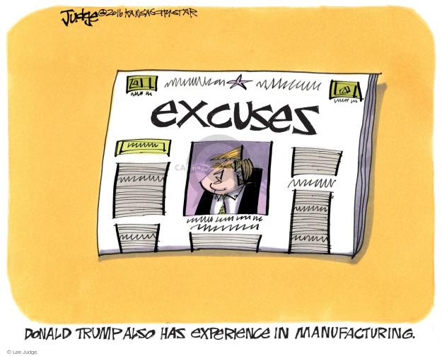 Lee Judge  Lee Judge's Editorial Cartoons 2016-10-19 presidential candidate