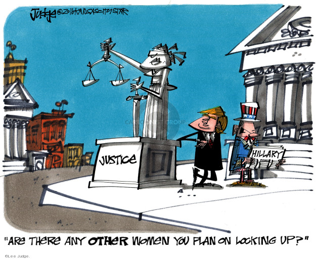 Cartoonist Lee Judge  Lee Judge's Editorial Cartoons 2016-10-22 rule of law