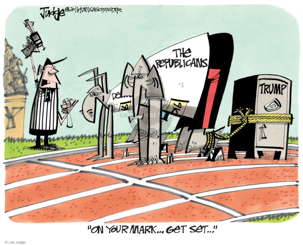 Lee Judge  Lee Judge's Editorial Cartoons 2016-11-06 presidential candidate