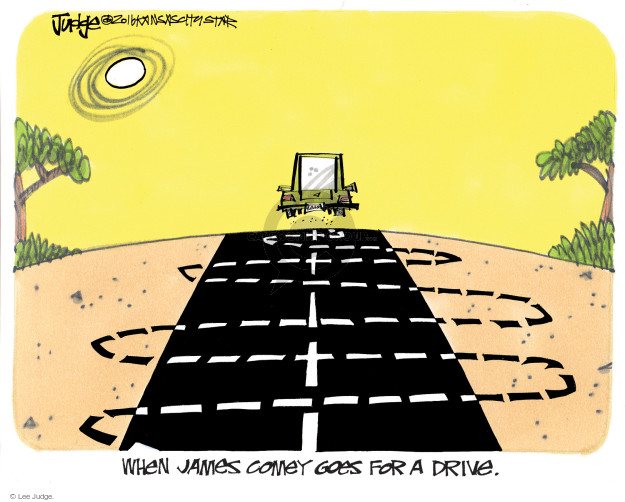 When James Comey goes for a drive.
