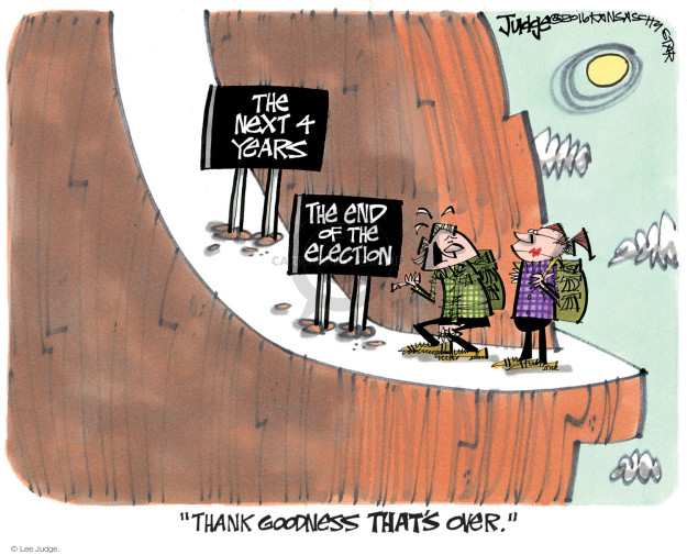 Lee Judge  Lee Judge's Editorial Cartoons 2016-11-09 voter