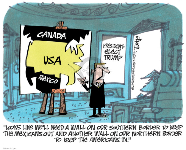 Lee Judge  Lee Judge's Editorial Cartoons 2016-11-13 immigration
