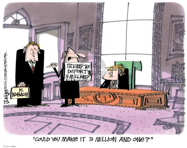 Lee Judge  Lee Judge's Editorial Cartoons 2016-11-23 immigration