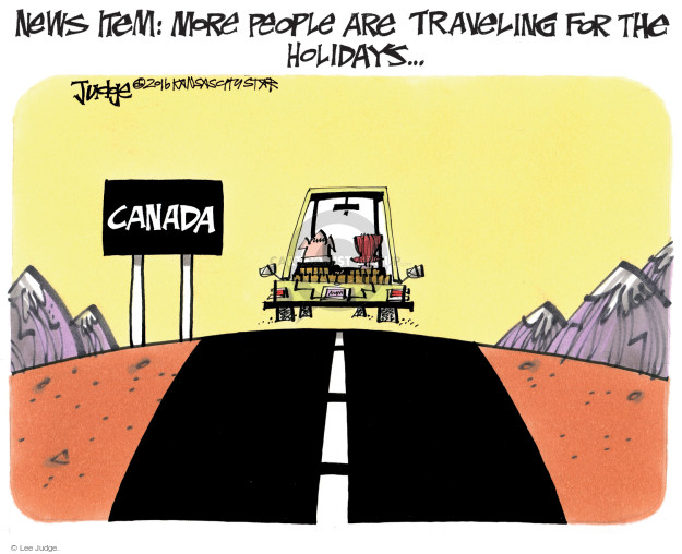 Cartoonist Lee Judge  Lee Judge's Editorial Cartoons 2016-11-24 emigration