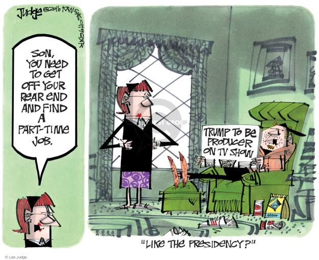 Lee Judge  Lee Judge's Editorial Cartoons 2016-12-10 reality television