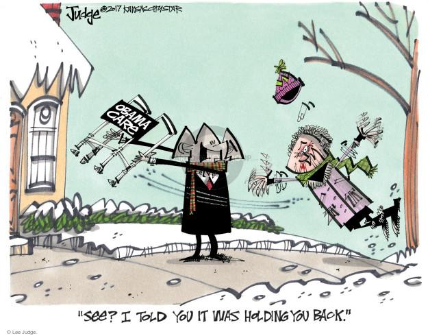Cartoonist Lee Judge  Lee Judge's Editorial Cartoons 2017-01-08 congress health care