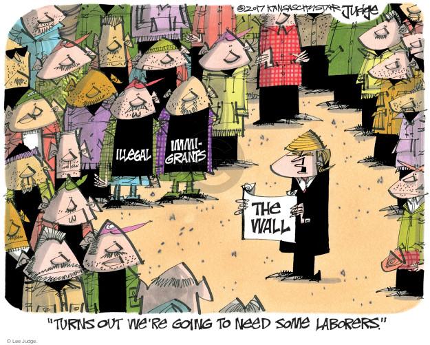 Lee Judge  Lee Judge's Editorial Cartoons 2017-01-26 Trump Immigration