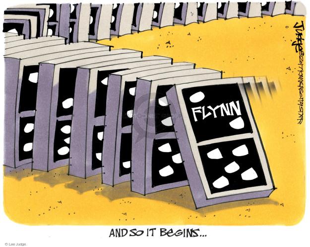 Flynn. And so it begins …
