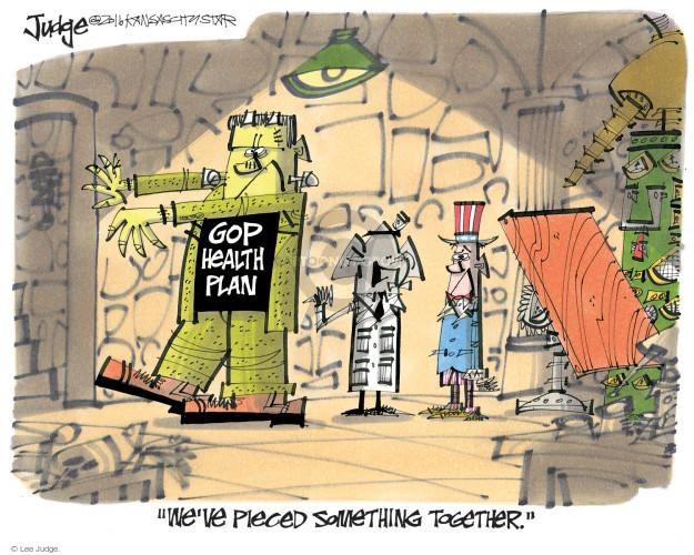 Cartoonist Lee Judge  Lee Judge's Editorial Cartoons 2017-03-08 congress health care