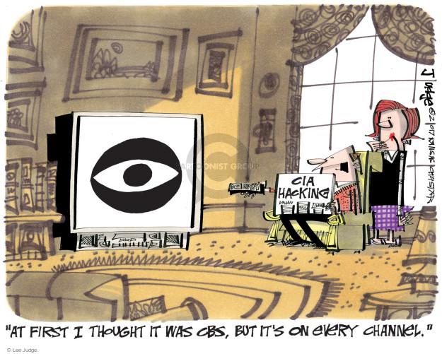 Cartoonist Lee Judge  Lee Judge's Editorial Cartoons 2017-03-09 Wikileaks