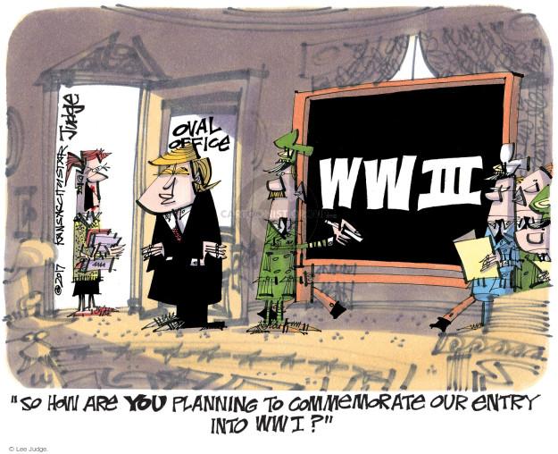 Lee Judge  Lee Judge's Editorial Cartoons 2017-04-05 force