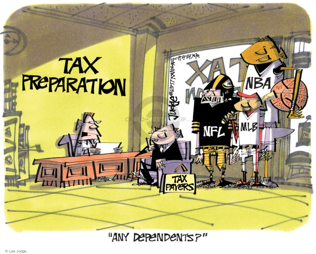 Lee Judge  Lee Judge's Editorial Cartoons 2017-04-07 tax preparation