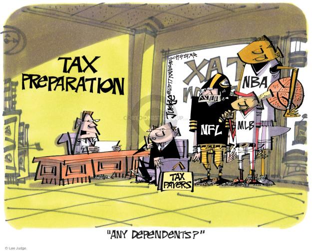 Lee Judge  Lee Judge's Editorial Cartoons 2017-04-07 tax form