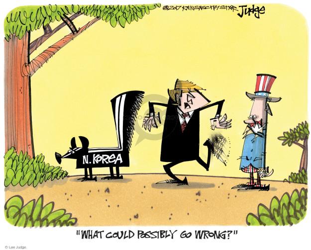 Cartoonist Lee Judge  Lee Judge's Editorial Cartoons 2017-04-19 nuclear