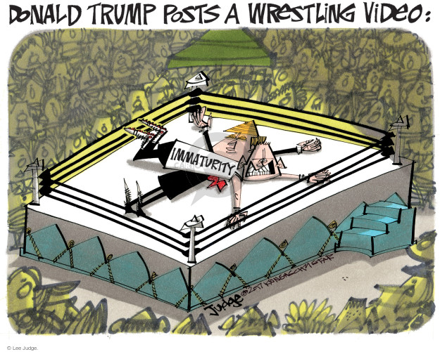 Lee Judge  Lee Judge's Editorial Cartoons 2017-07-04 political media