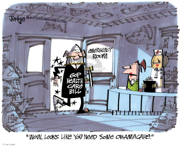 Cartoonist Lee Judge  Lee Judge's Editorial Cartoons 2017-07-14 GOP