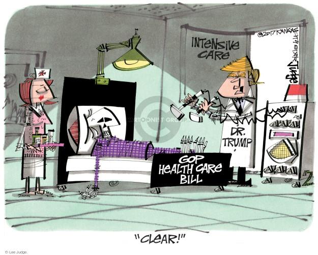 Cartoonist Lee Judge  Lee Judge's Editorial Cartoons 2017-07-21 congressional