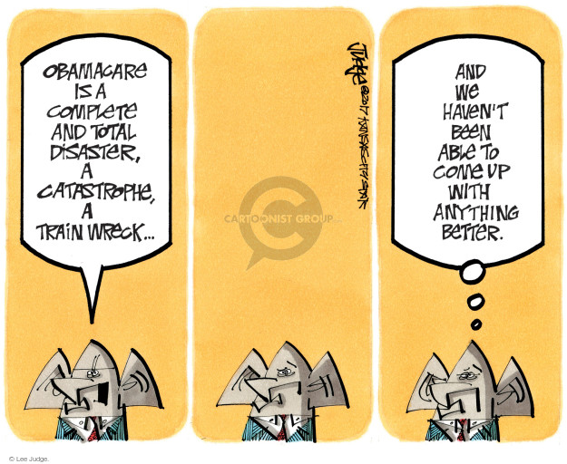 Cartoonist Lee Judge  Lee Judge's Editorial Cartoons 2017-07-30 republican