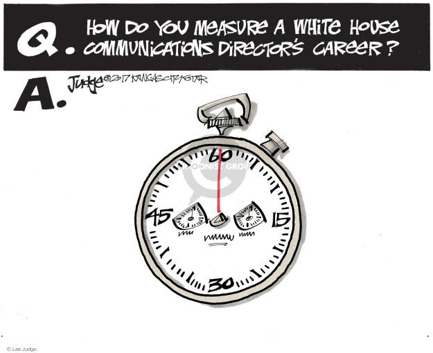 Cartoonist Lee Judge  Lee Judge's Editorial Cartoons 2017-08-02 editorial staff