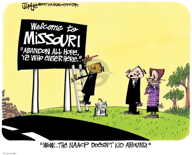Cartoonist Lee Judge  Lee Judge's Editorial Cartoons 2017-08-03 civil