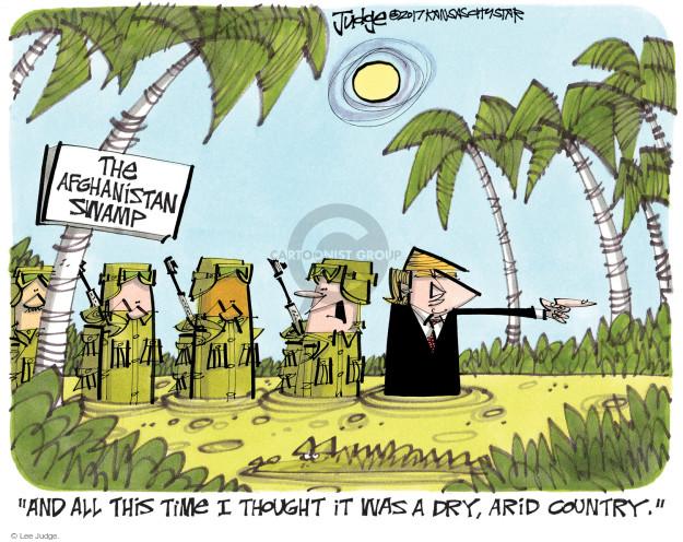 Lee Judge  Lee Judge's Editorial Cartoons 2017-08-23 force