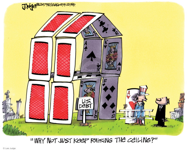 Lee Judge  Lee Judge's Editorial Cartoons 2017-08-27 debt ceiling