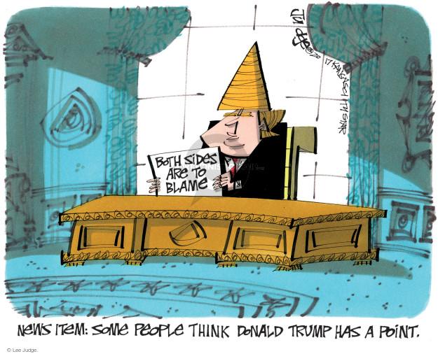 Lee Judge  Lee Judge's Editorial Cartoons 2017-09-17 political media