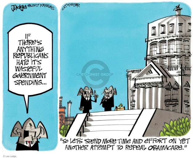 Cartoonist Lee Judge  Lee Judge's Editorial Cartoons 2017-09-20 GOP