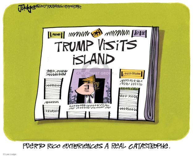Lee Judge  Lee Judge's Editorial Cartoons 2017-10-05 destruction