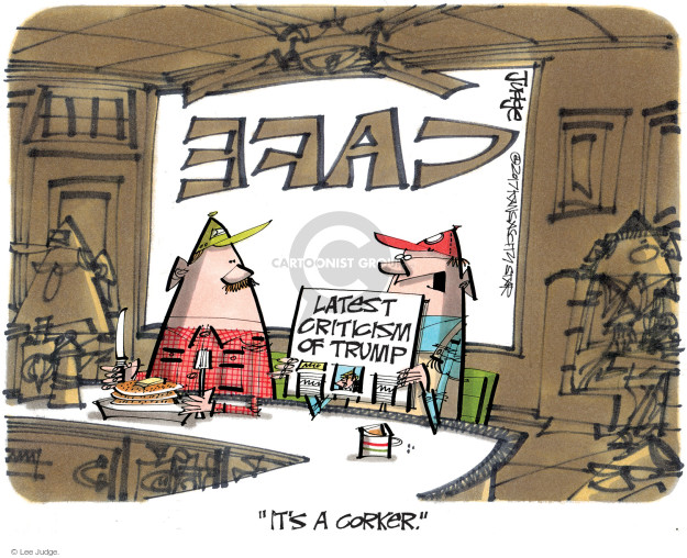 Lee Judge  Lee Judge's Editorial Cartoons 2017-10-10 Donald Trump