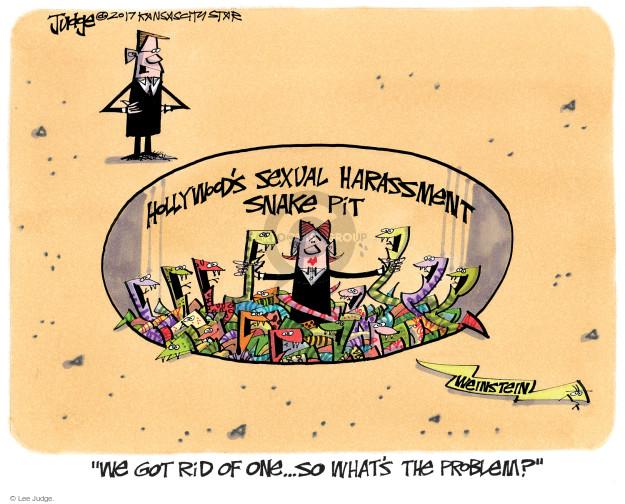 Cartoonist Lee Judge  Lee Judge's Editorial Cartoons 2017-10-13 charge