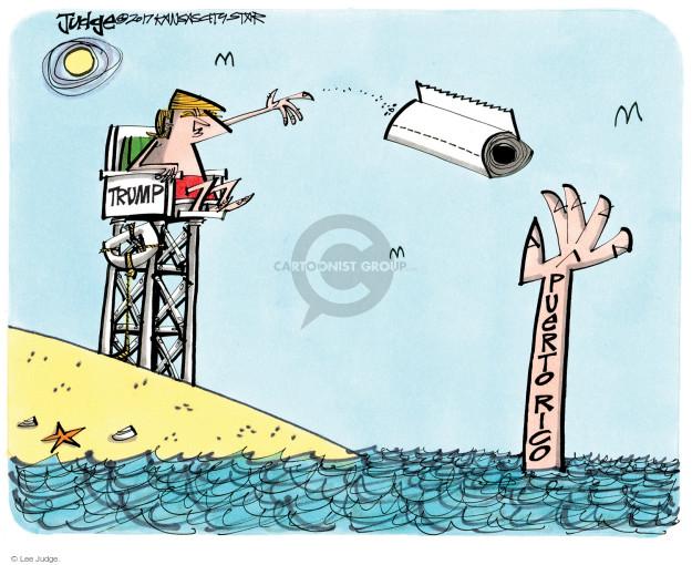 Lee Judge  Lee Judge's Editorial Cartoons 2017-10-15 Donald Trump