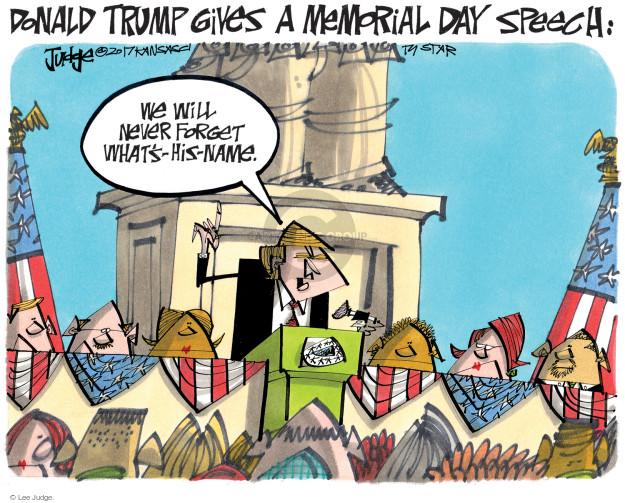 Lee Judge  Lee Judge's Editorial Cartoons 2017-10-25 Donald Trump