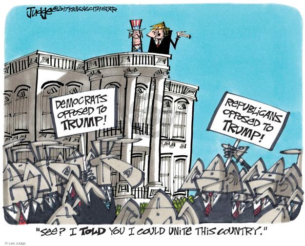 Lee Judge  Lee Judge's Editorial Cartoons 2017-10-27 Donald Trump