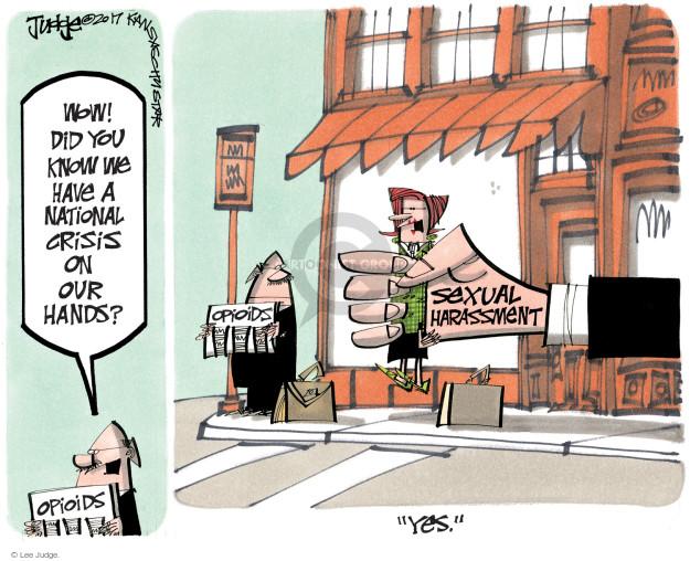 Lee Judge  Lee Judge's Editorial Cartoons 2017-11-03 addict