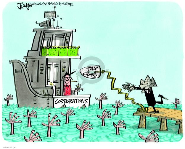 Cartoonist Lee Judge  Lee Judge's Editorial Cartoons 2017-11-17 republican