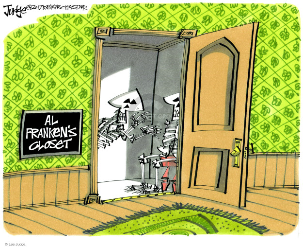 Cartoonist Lee Judge  Lee Judge's Editorial Cartoons 2017-11-19 charge